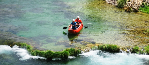 Kayaking on the Zrmanja river in Croatia