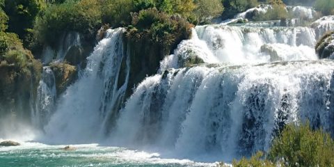 You simply must visit the Krka waterfalls!