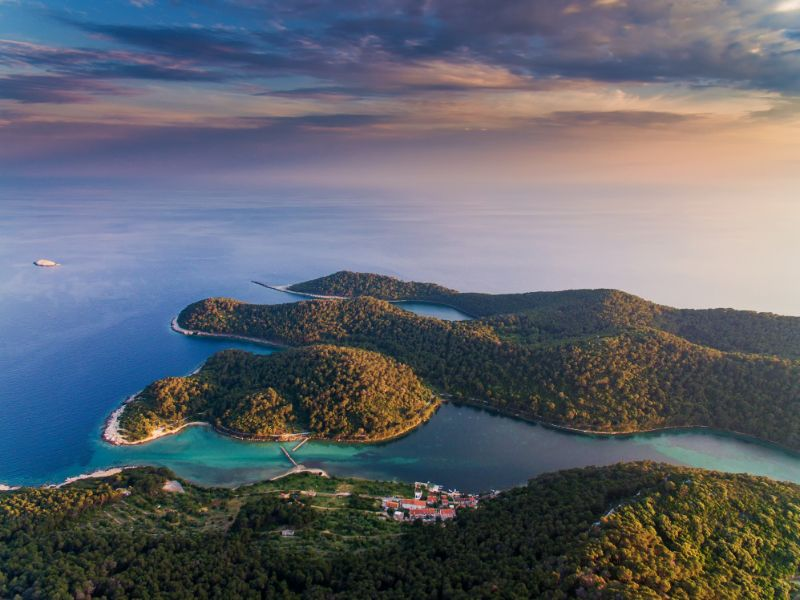View over the beautiful Mljet