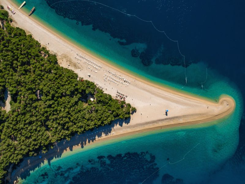 The Beautiful beach of Zlatni Rat