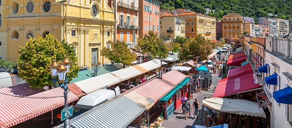 Market in the old centre of Nice