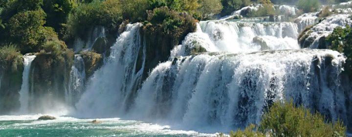 You simply must visit the Krka waterfalls!