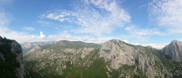 Uitzicht in Paklenica na een hike
