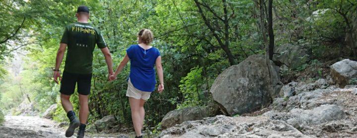 Ton & Lucia go walking in Paklenica